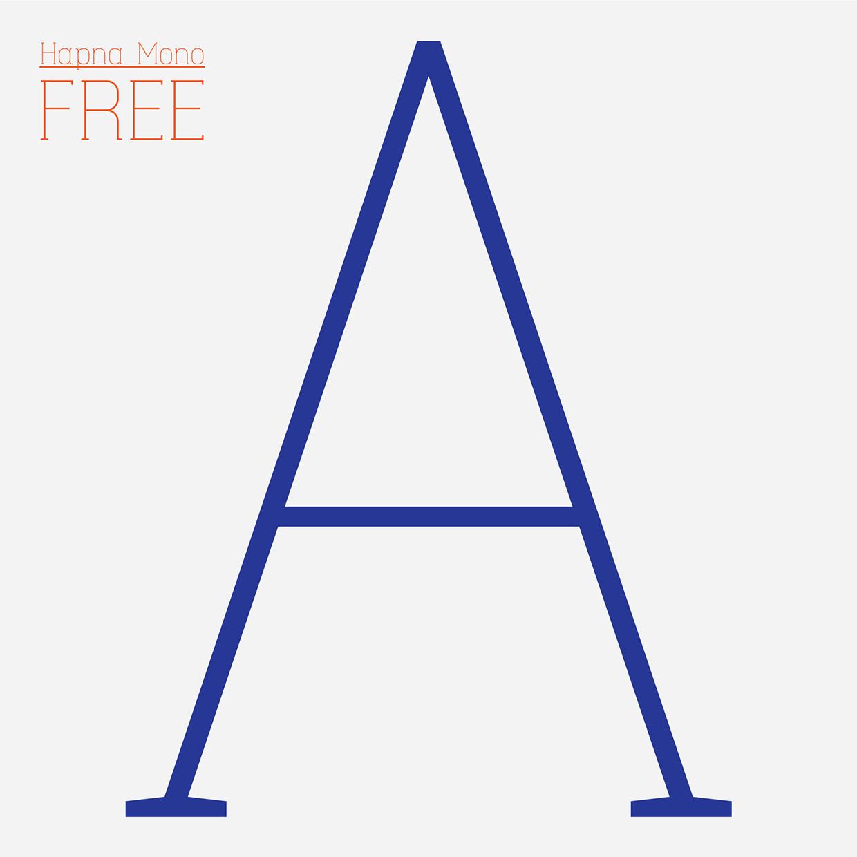 Hapna Mono – Free Monospaced Serif Font Poster A