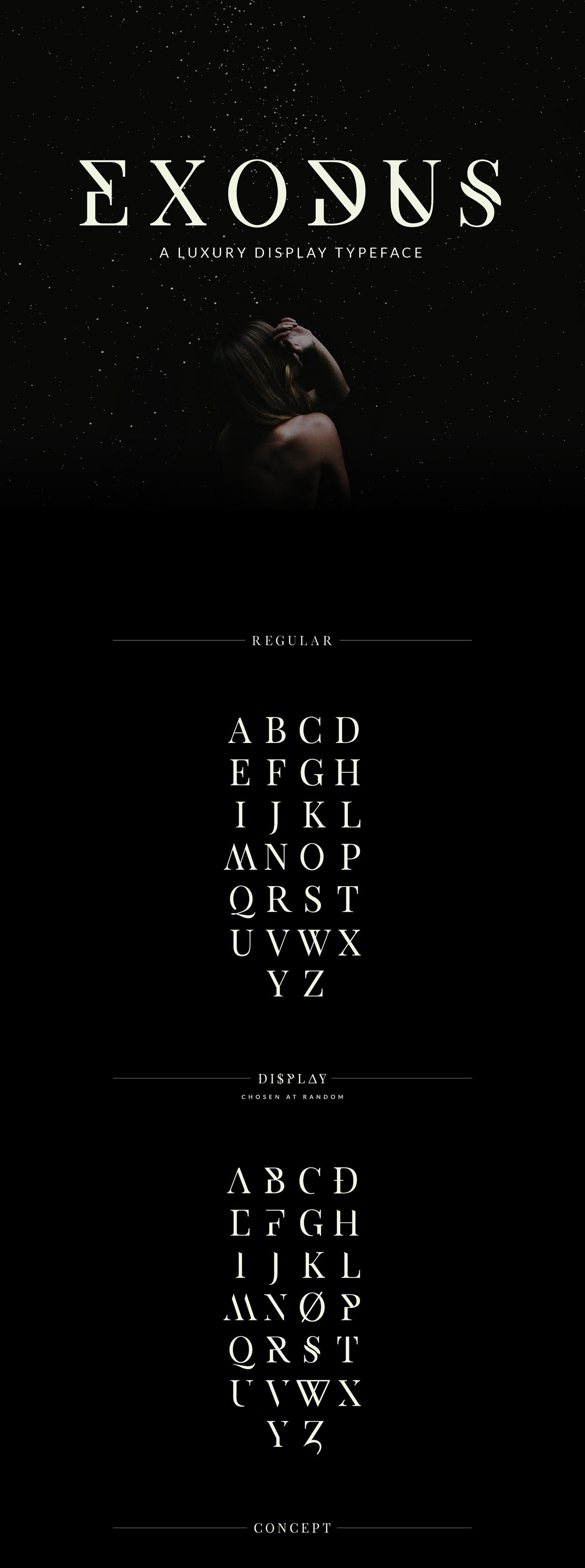 Exodus – Free Display Serif Font Poster A