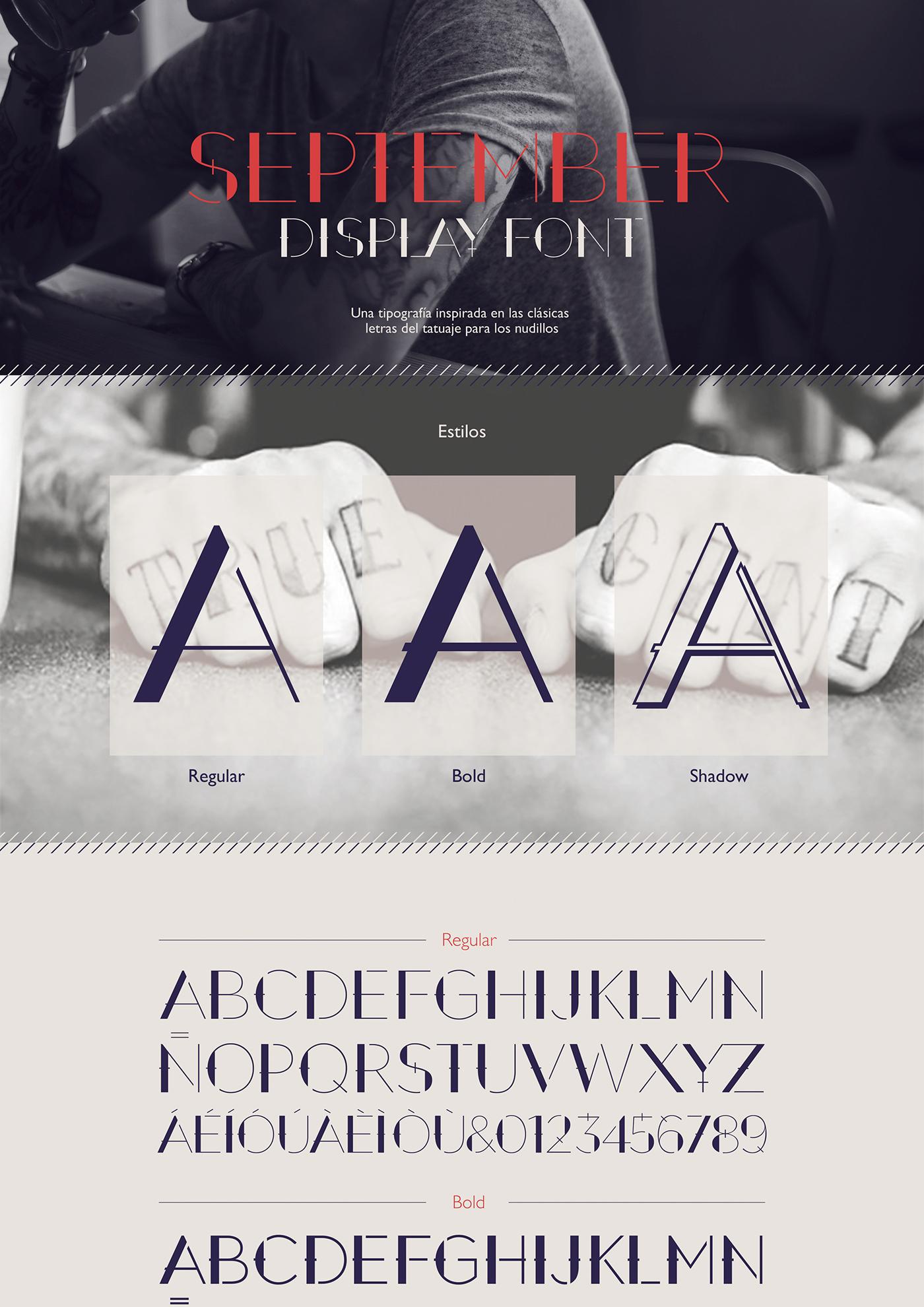 September – Free Decorative Font Poster B