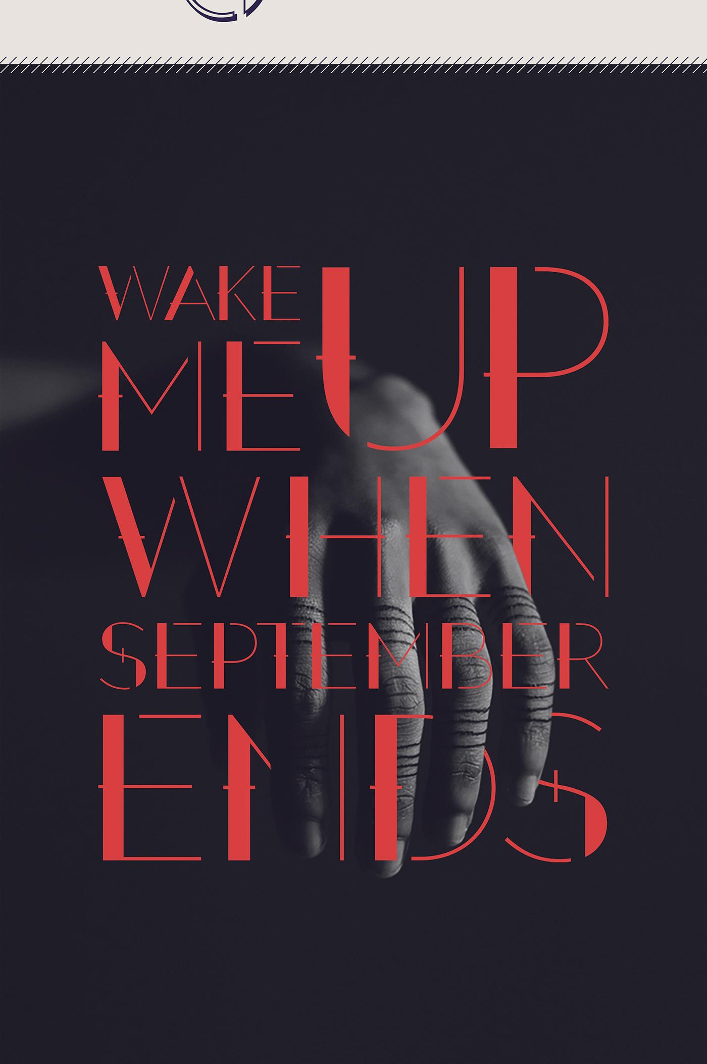 September – Free Decorative Font Poster A
