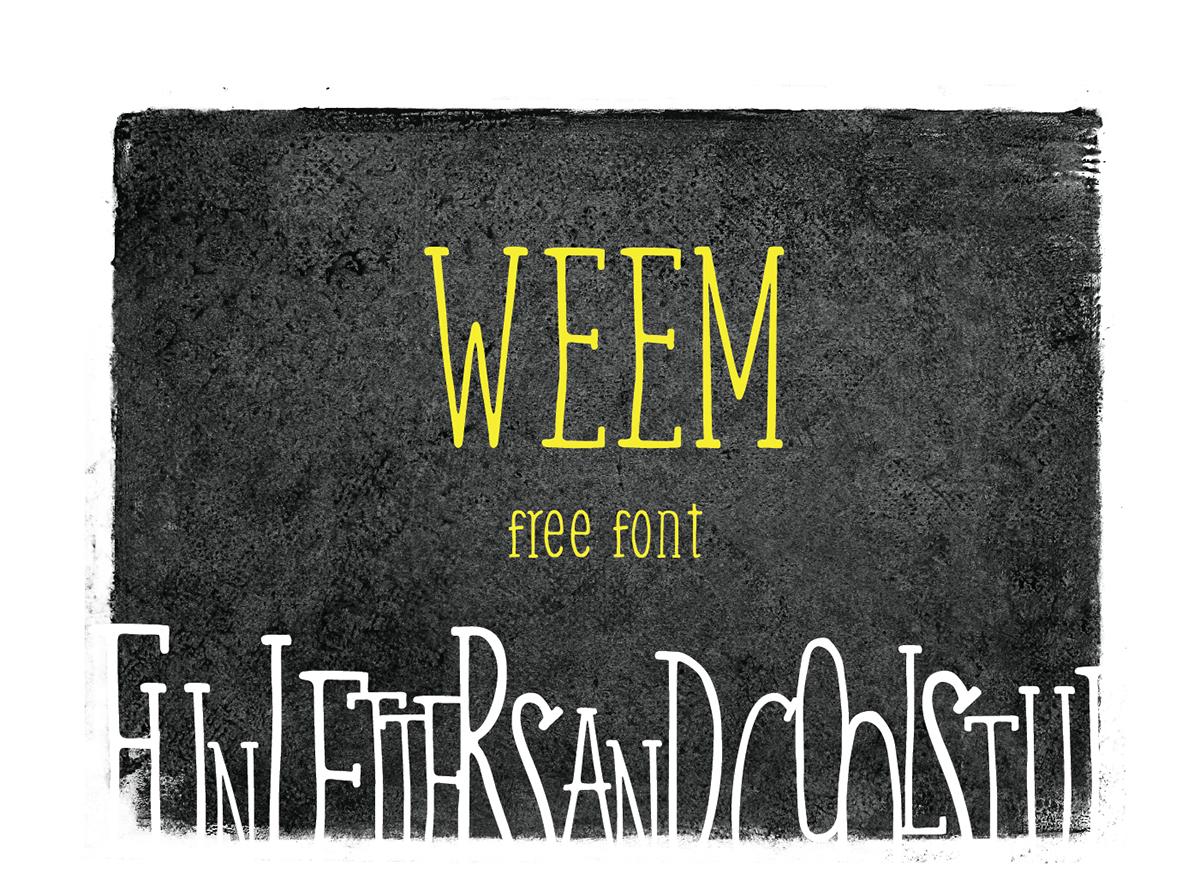 Weem – Free Handwritten Serif Font Poster A