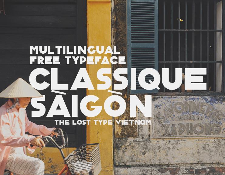 Classique Saigon – Free Thick Geometric Font Poster A