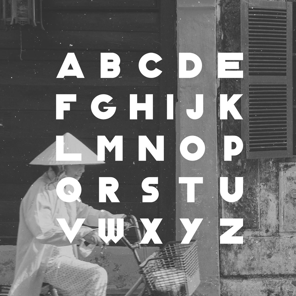 Classique Saigon – Free Thick Geometric Font Poster B