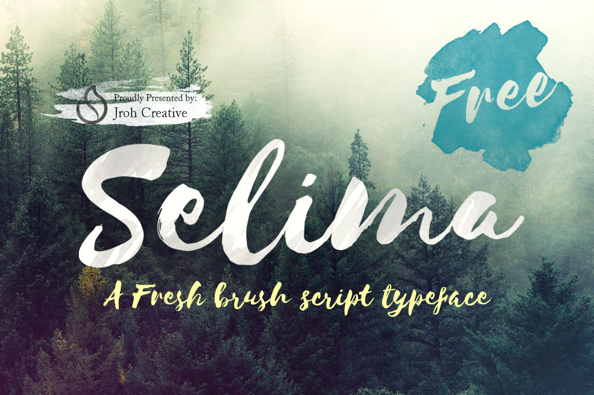 Selima – Free Brush Script Font Poster A