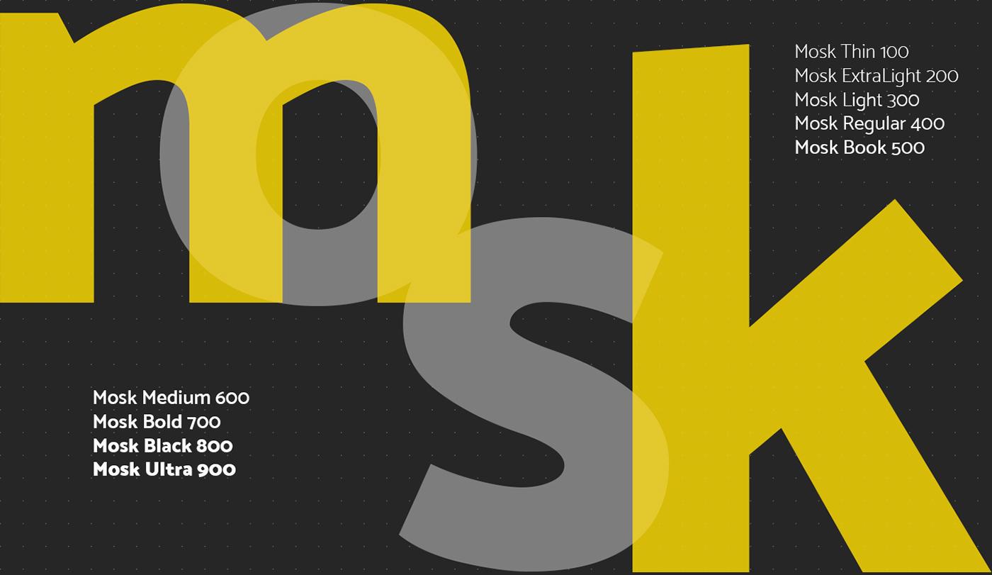 Mosk – Free Clean Sans Serif Font Poster C