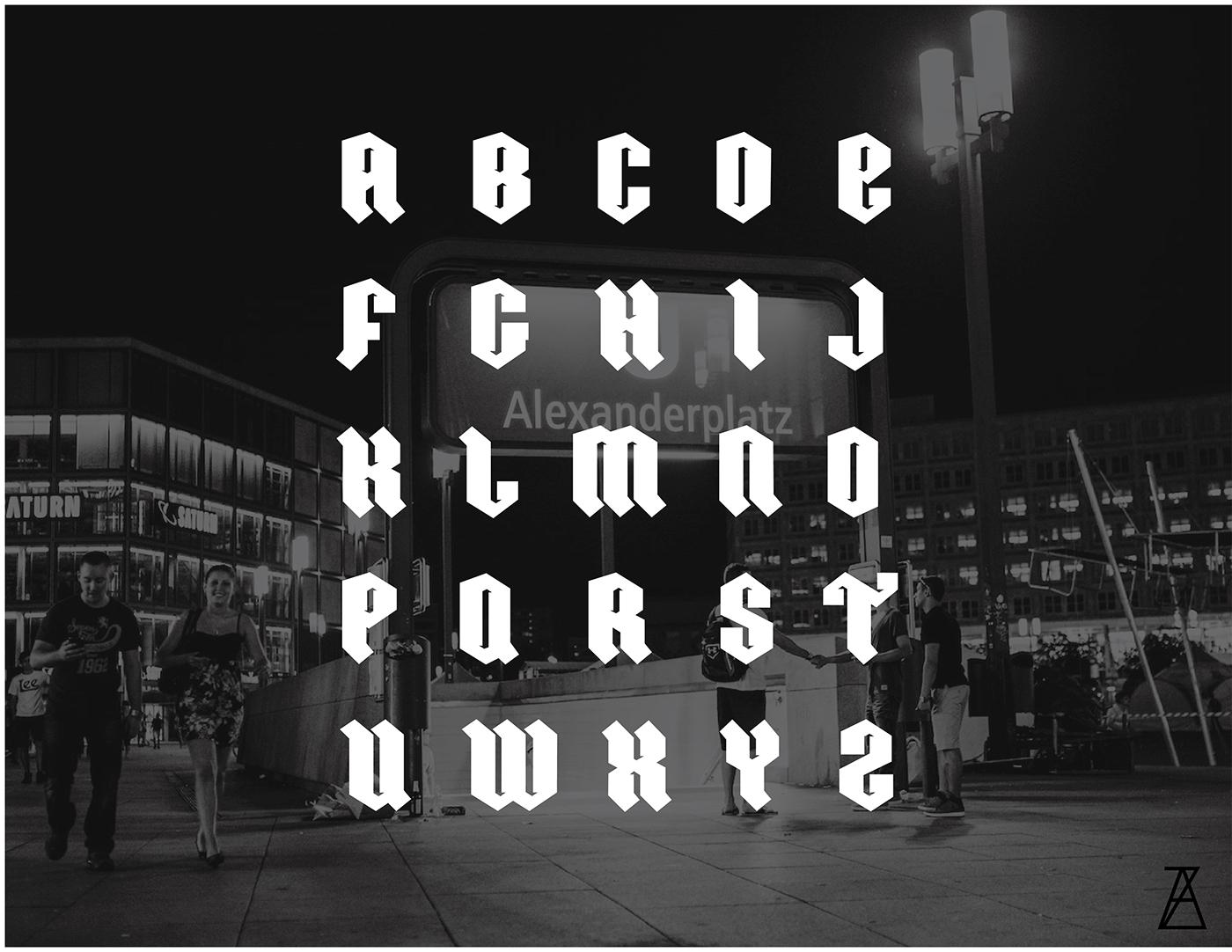 Ordnung – Free Modern Gothic Font Poster B