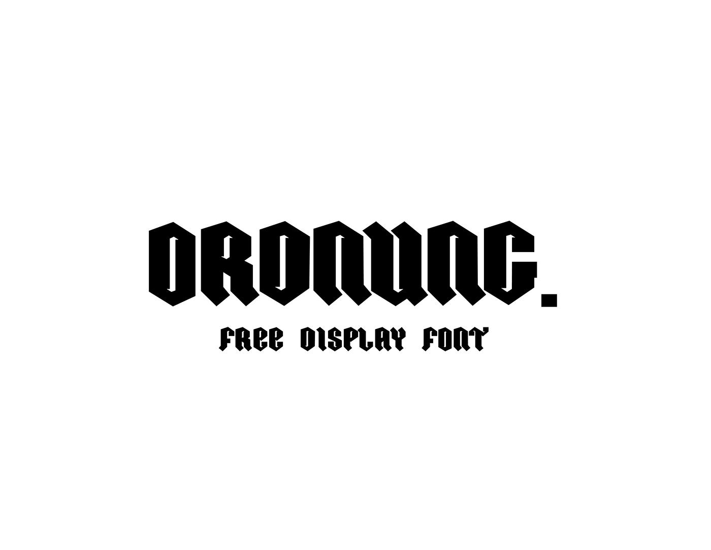 Ordnung – Free Modern Gothic Font Poster A