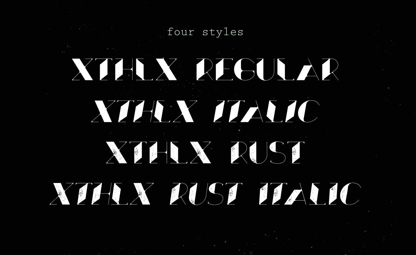 Xthlx – Free Futuristic Font Poster E