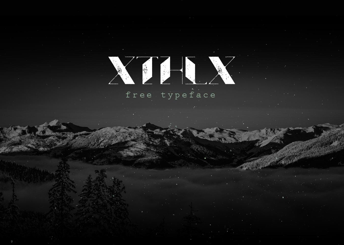Xthlx – Free Futuristic Font Poster A