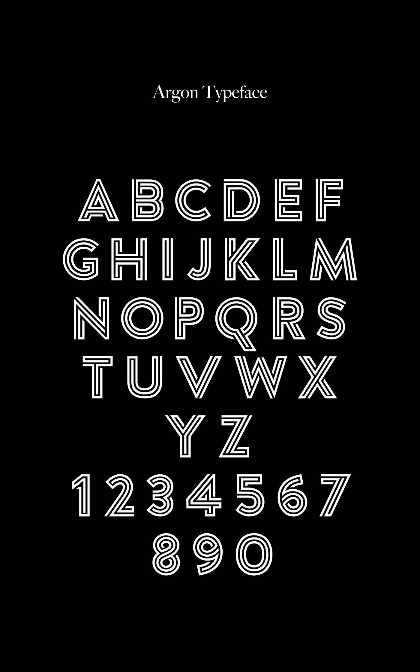 Argon – Free Multi-lined  Font Poster A