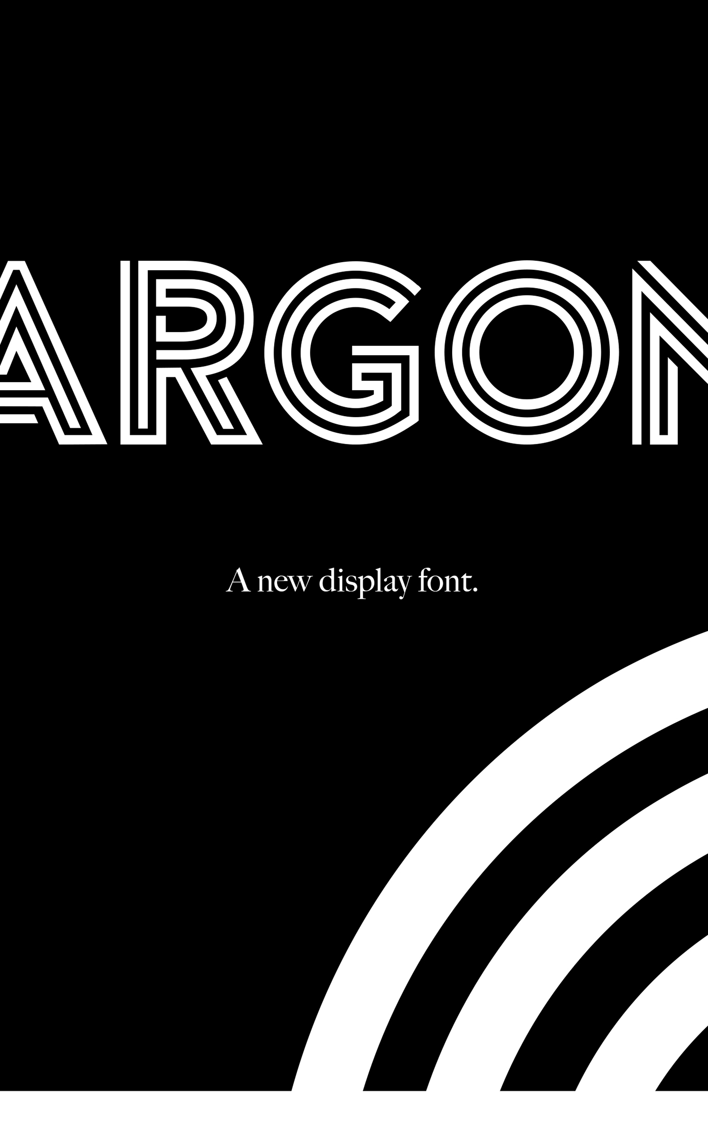 Argon – Free Multi-lined  Font Poster C