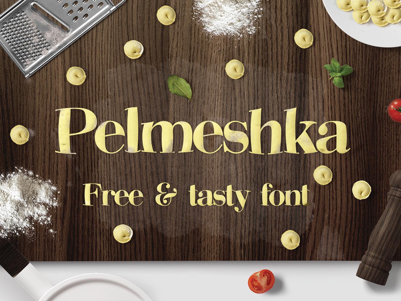 Pelmeshka – Free Funny Serif Font Poster A
