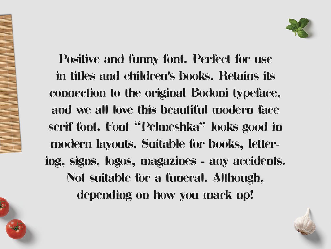 Pelmeshka – Free Funny Serif Font Poster B