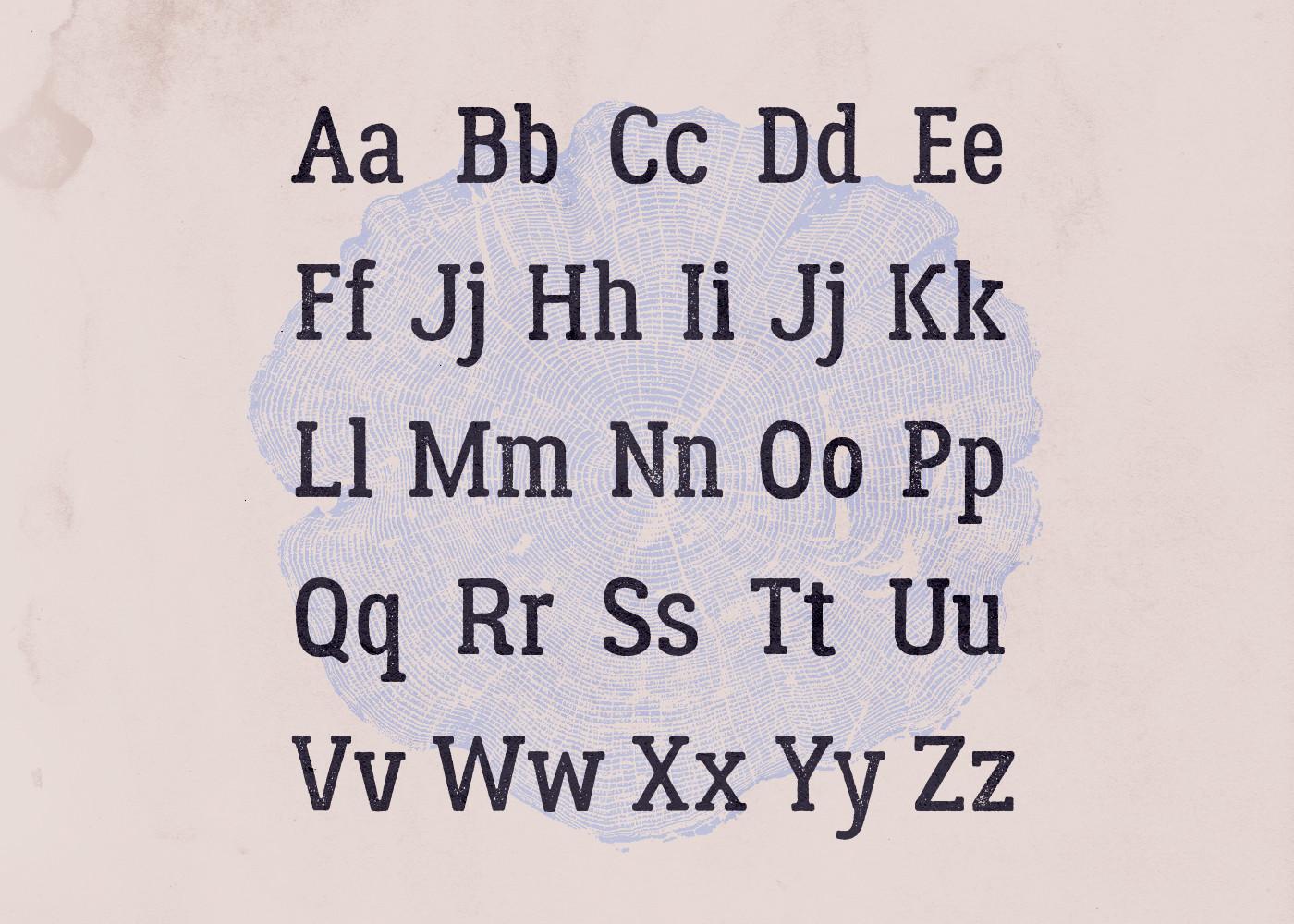 Lumberjack – Free Slab Serif Font Poster B