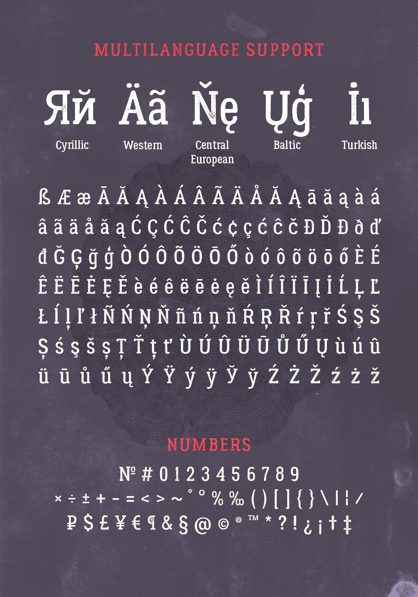 Lumberjack – Free Slab Serif Font Poster E
