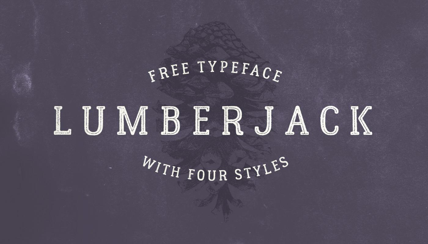Lumberjack – Free Slab Serif Font Poster A