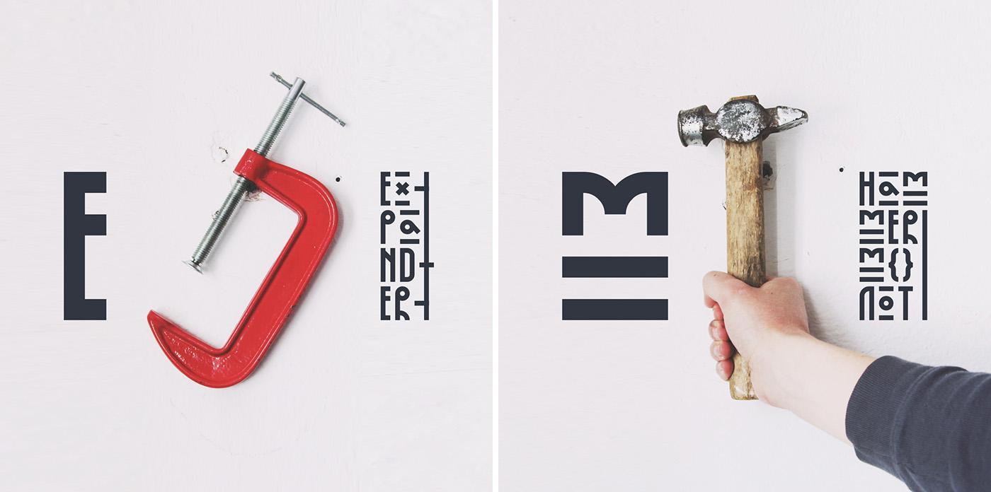 Kurbanistika – Free Display Font Poster D