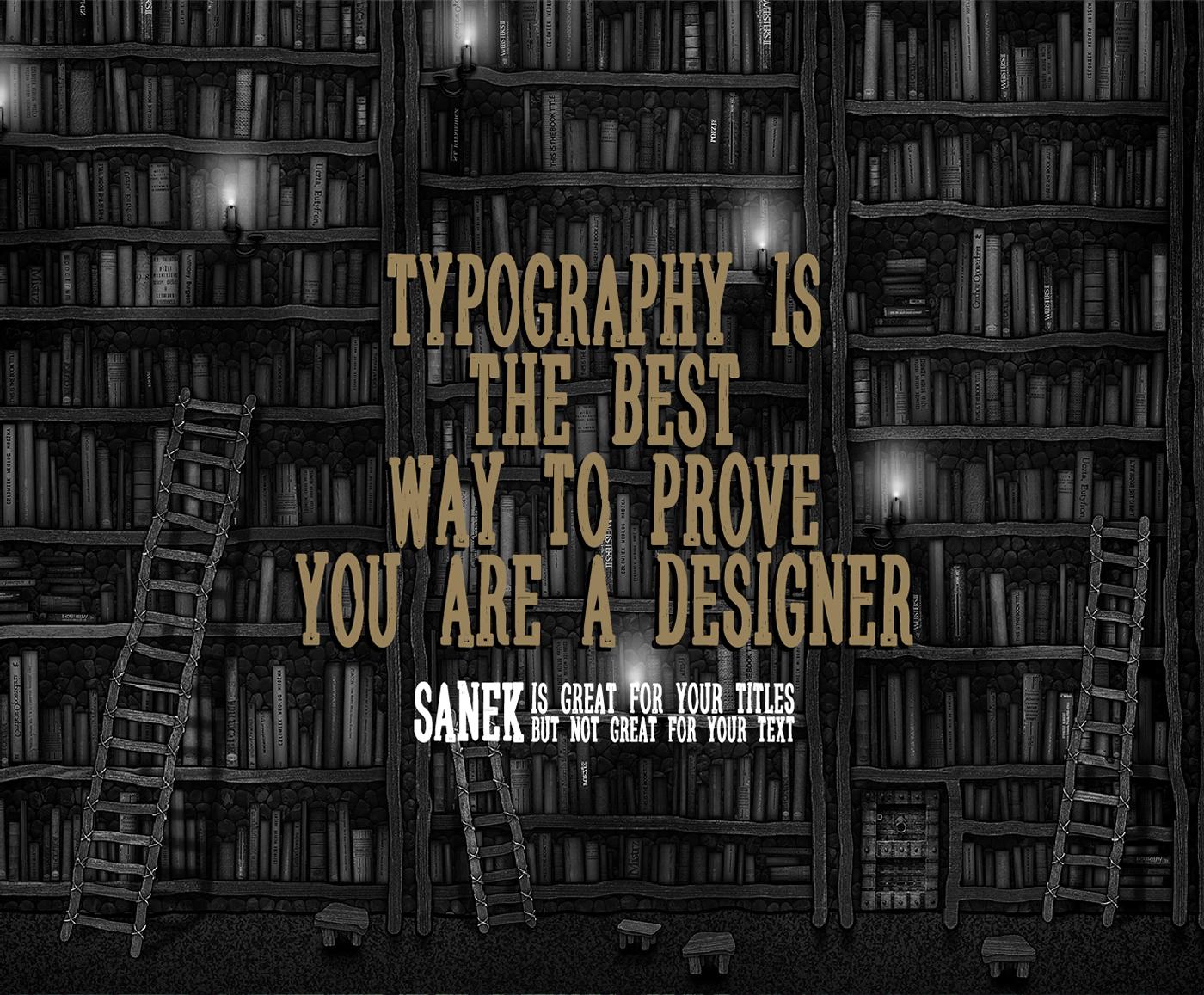 Sanek – Free Handmade Slab Serif Font Poster B