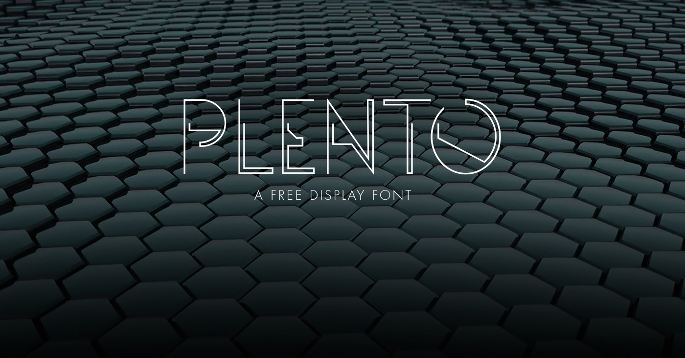 Plento – Free Abstract Font Poster A