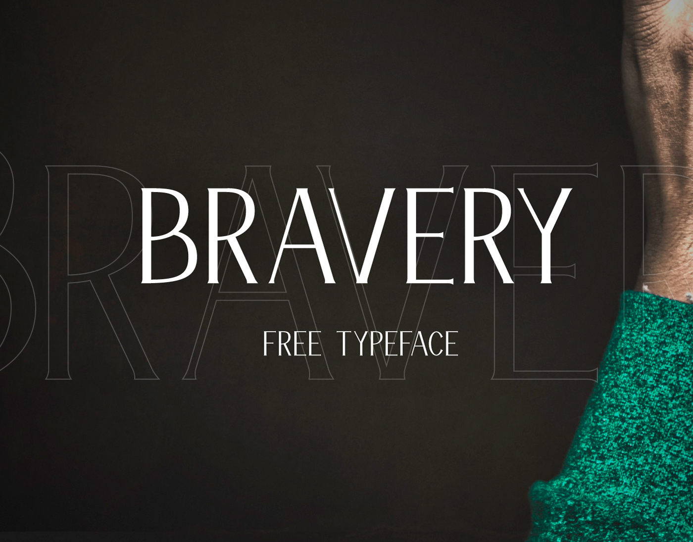 Bravery – Free Display Font Poster A