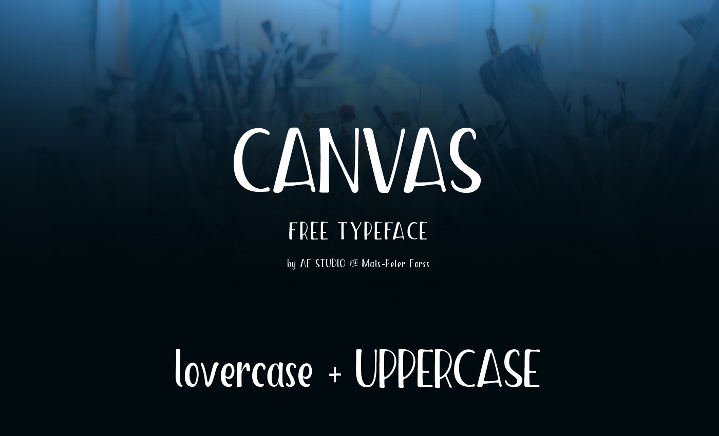 Canvas – Free Handmade Display Font Poster A