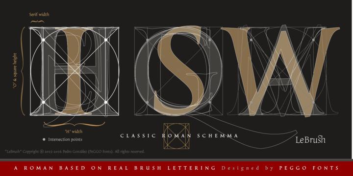LeBrush – Brush Serif Font Poster D