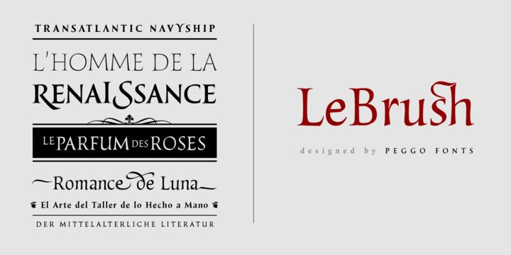 LeBrush – Brush Serif Font Poster B
