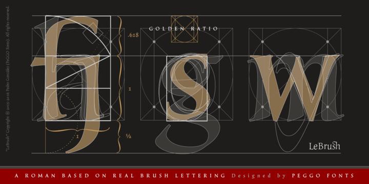 LeBrush – Brush Serif Font Poster E