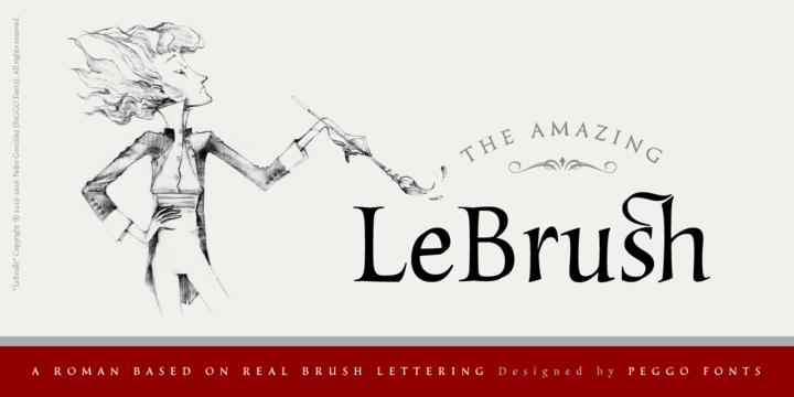 LeBrush – Brush Serif Font Poster A