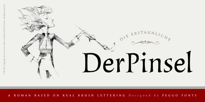 LeBrush – Brush Serif Font Poster G