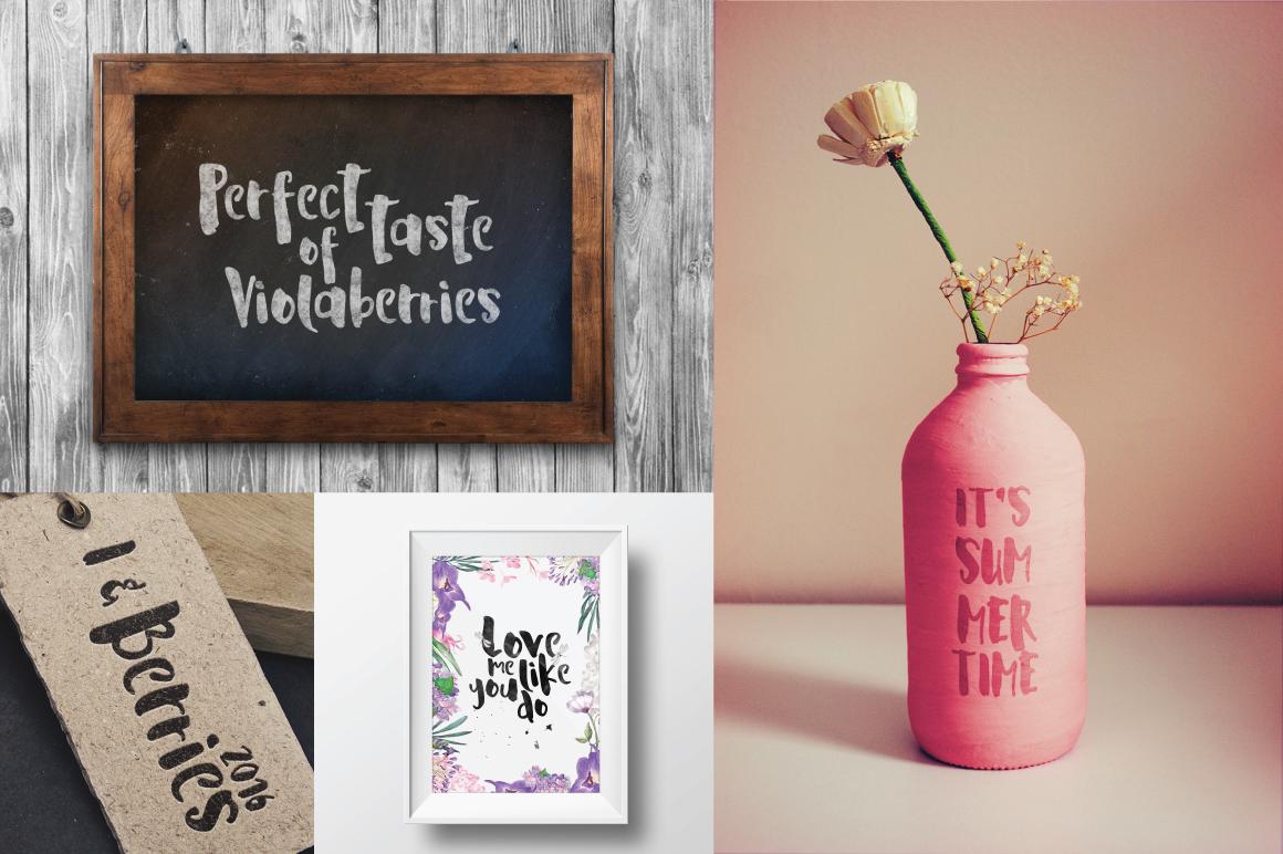 La Viola – Free Handmade Display Font Poster E