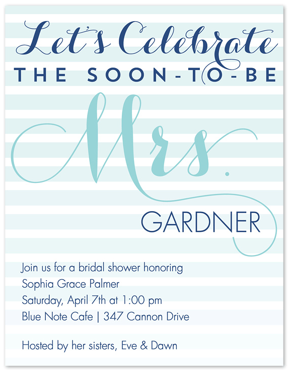 ombre bridal shower invitation