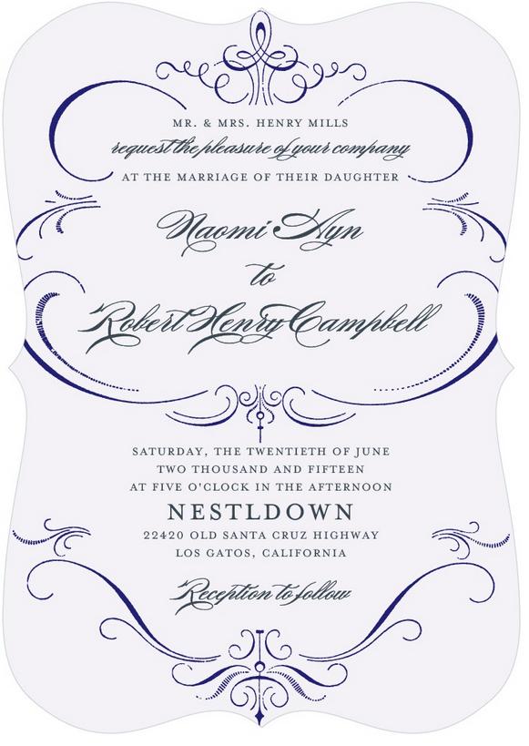 Burgues script wedding invitation – yiye simple wedding invitation.