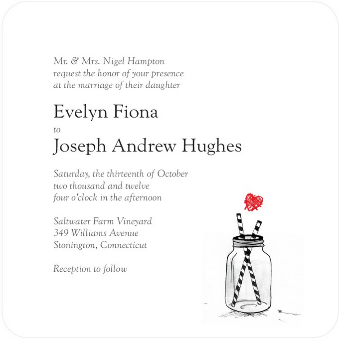 rutisc jar wedding invitation