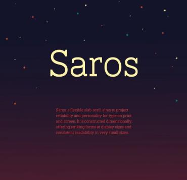Saros – Free Slab Serif Font