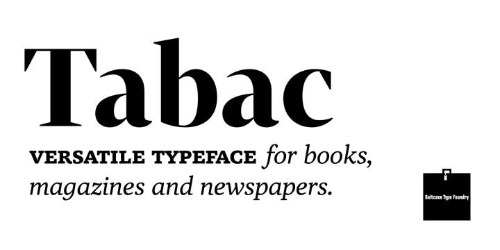serif fonts tabac
