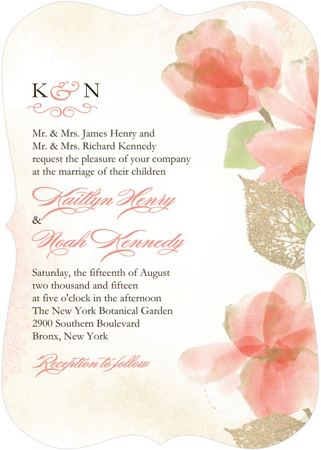 softly girl wedding invitation