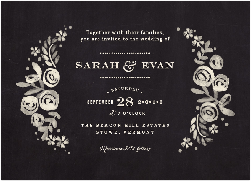 sun beached floral wedding invitation