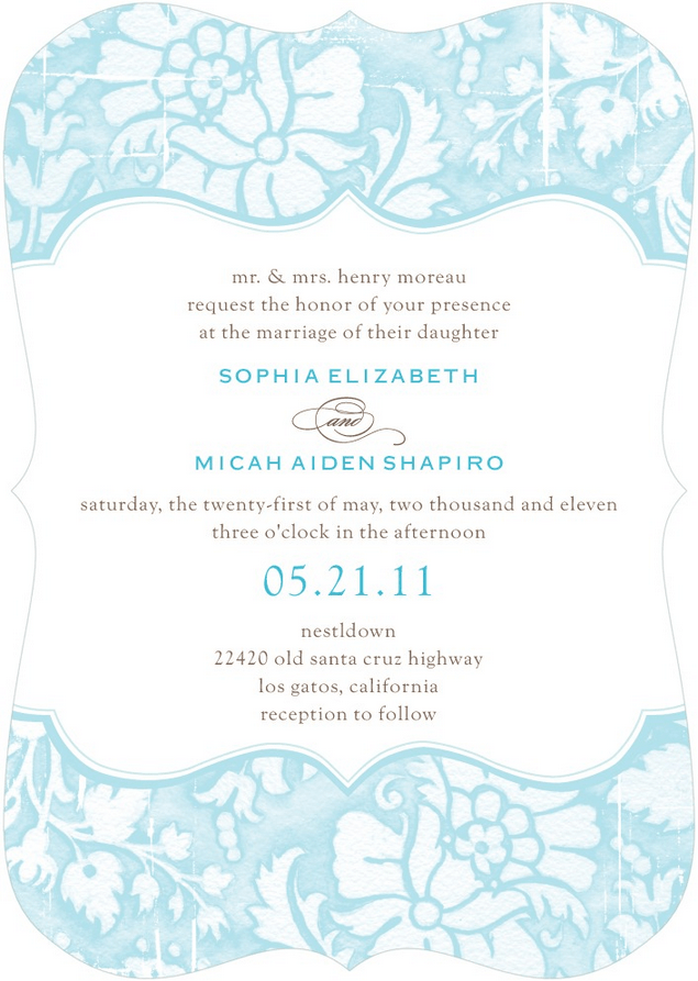 tender elegance wedding invitation