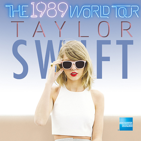 the 1989 world tour poster