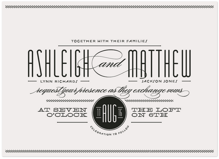 twine inspired wedding invitation
