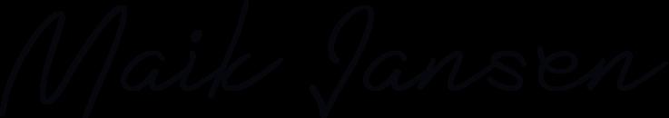 handtekening van maik jansen
